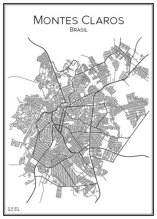 Stadskarta över Montes Claros