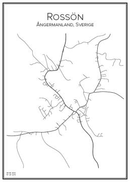 Stadskarta över Rossön