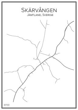 Stadskarta över Skärvången