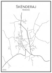 Stadskarta över Skënderaj