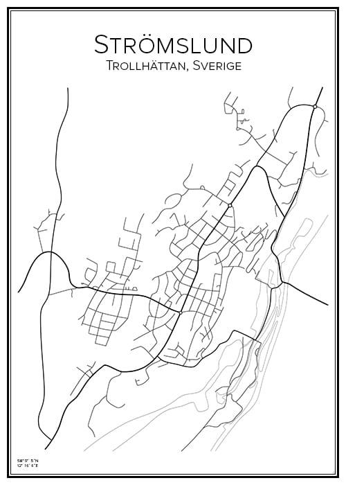 Stadskarta över Strömslund