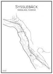 Stadskarta över Sysslebäck