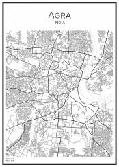 Stadskarta över Agra
