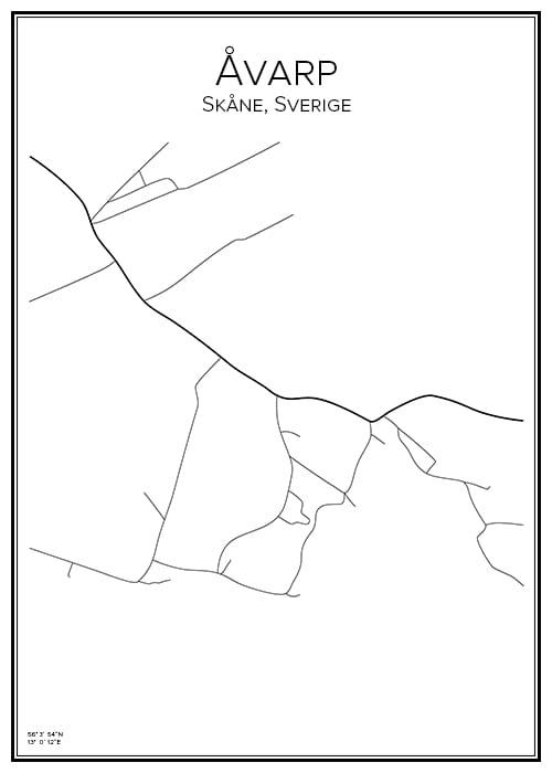 Stadskarta över Åvarp