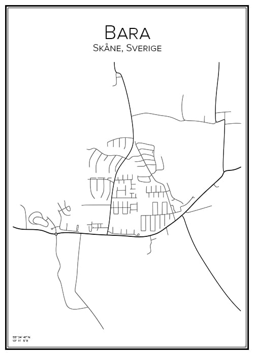 Stadskarta över Bara