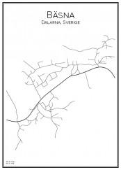 Stadskarta över Bäsna