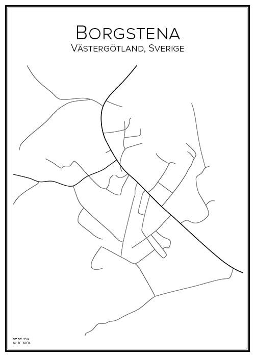 Stadskarta över Borgstena