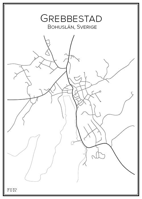 Stadskarta över Grebbestad