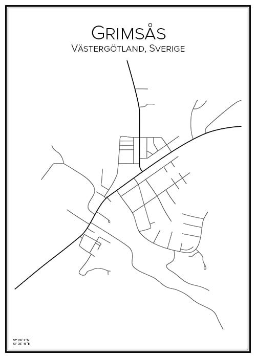Stadskarta över Grimås