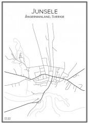 Stadskarta över Junsele