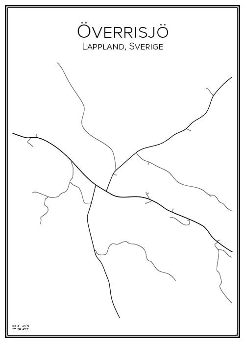 Stadskarta över Överrisjö