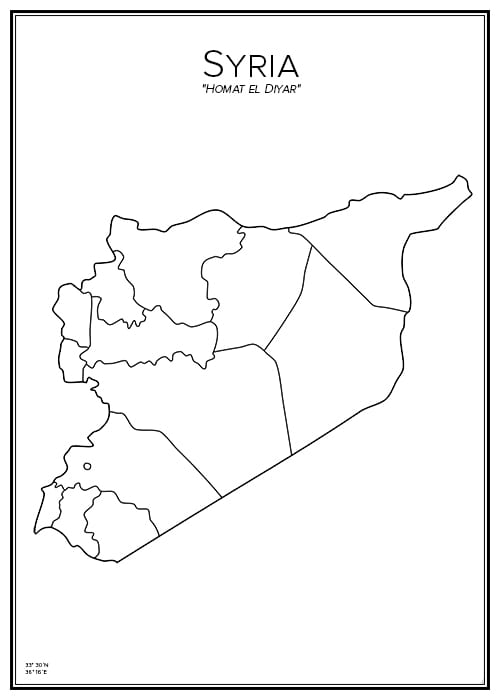 Stadskarta över Syrien