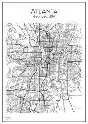 Stadskarta över Atlanta