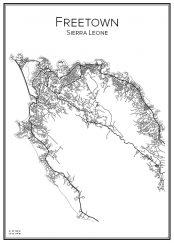 Stadskarta över Freetown