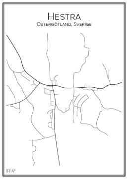 Stadskarta över Hestra