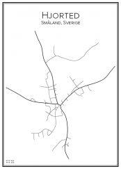 Stadskarta över Hjorted
