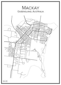 Stadskarta över Mackay