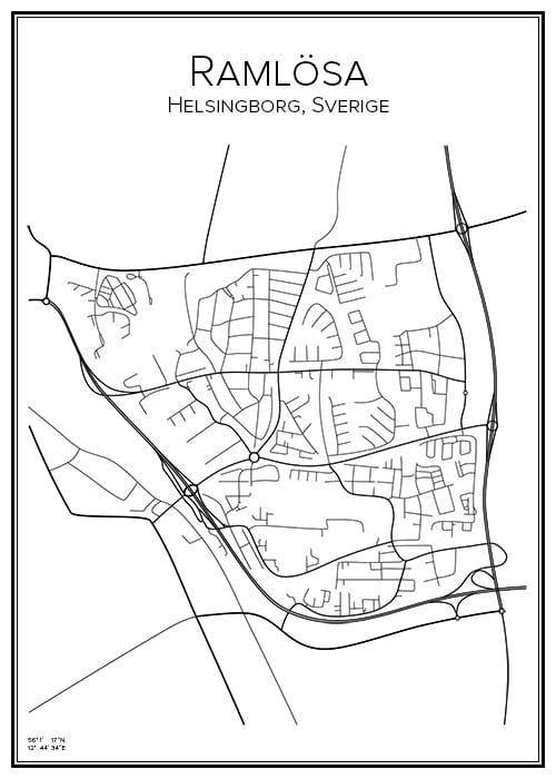 Stadskarta över Ramlösa