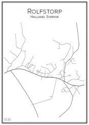 Stadskarta över Rolfstorp