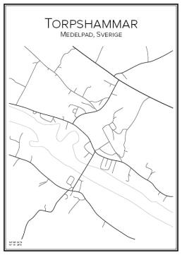 Stadskarta över Torpshammar