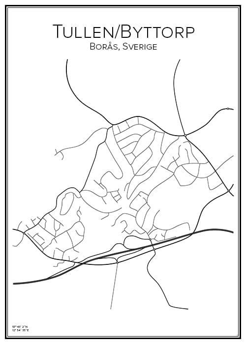 Stadskarta över Tullen / Byttorp