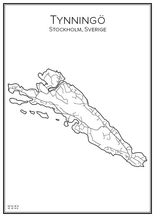 Stadskarta över Tynningö