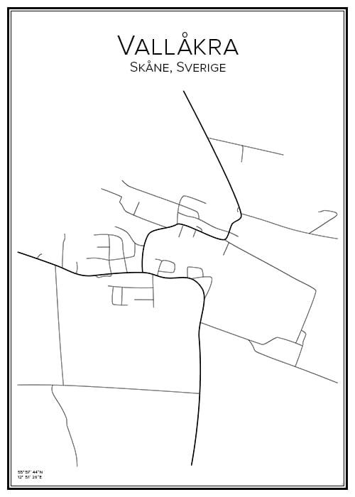 Stadskarta över Vallåkra
