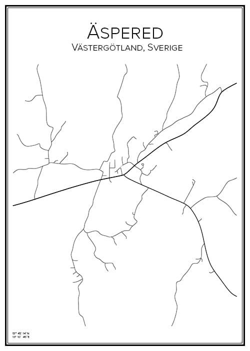 Stadskarta över Äspered