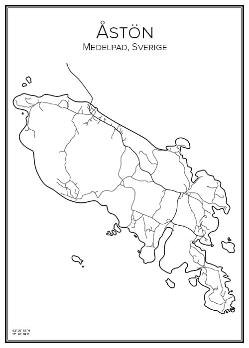 Stadskarta över Åstön
