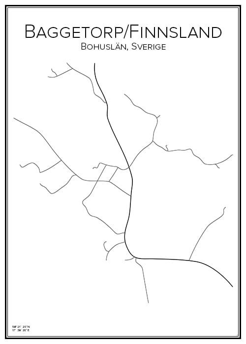 Stadskarta över Baggetorp/Finnsland