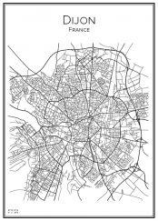 Stadskarta över Dijon