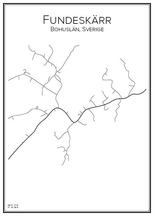 Stadskarta över Fundeskärr
