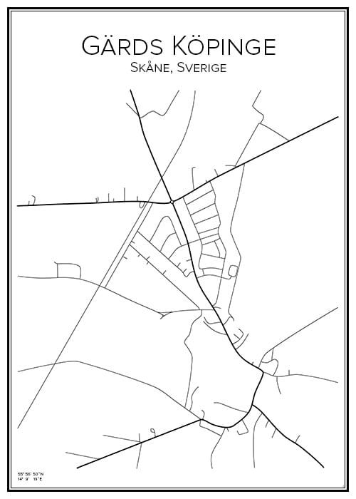 Stadskarta över Görds Köpinge