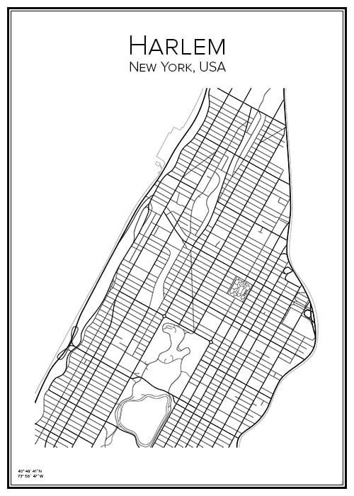 Stadskarta över Harlem