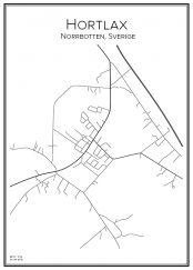 Stadskarta över Hortlax