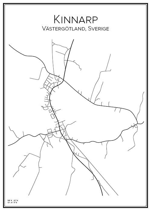Stadskarta över Kinnarp