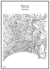Stadskarta över Nice