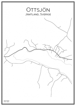 Stadskarta över Ottsjön