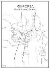 Stadskarta över Rimforsa