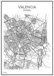 Stadskarta över Valencia