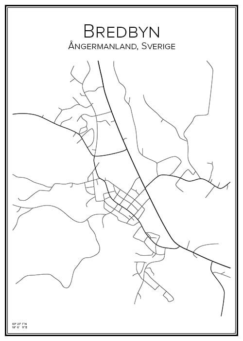 Stadskarta över Bredbyn