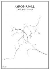 Stadskarta över Grönfjäll