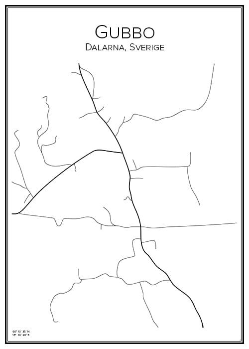 Stadskarta över Gubbo
