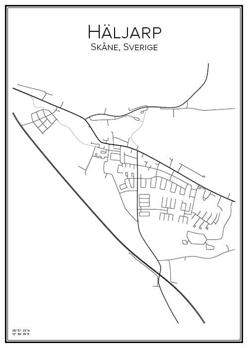 Stadskarta över Häljarp