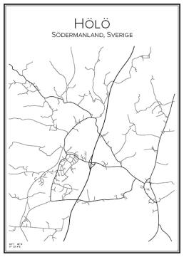 Stadskarta över Hölö