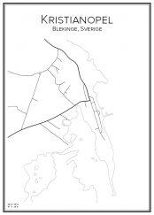 Stadskarta över Kristianopel