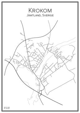 Stadskarta över Krokom