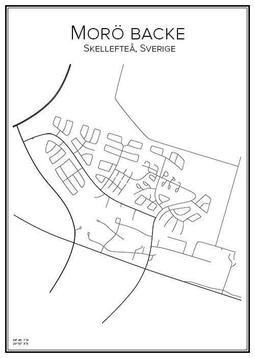 Stadskarta över Morö backe