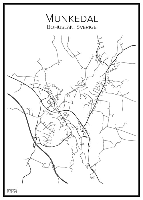 Stadskarta över Munkedal