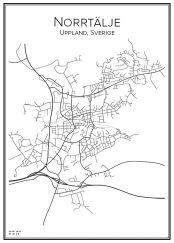 Stadskarta över Norrtälje